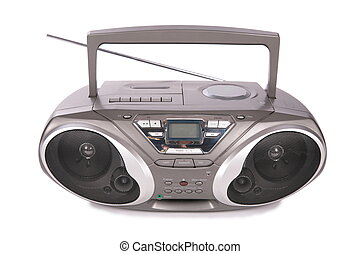 spieler, mini-system, ton, radio