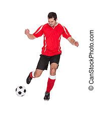 spieler, professionell, fußball ball, treten