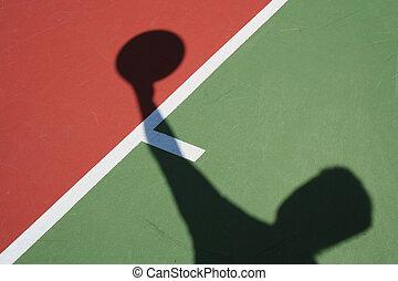 spieler, schatten, basketball