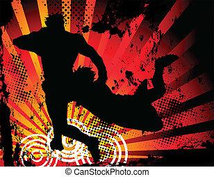 spieler, silhouette, rugby