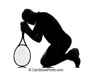 spieler, tennis, mann