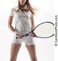 spieler, tennis, weibliche