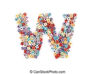 spielwürfel, alphabet