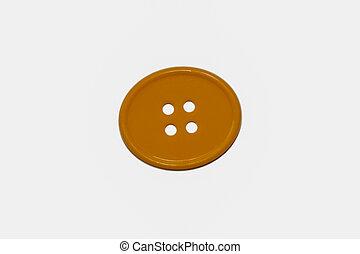 spielzeug, taste, nähen, löcher, gelber , vier, oval, runder