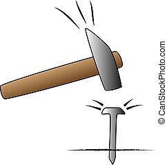spijker, hamer