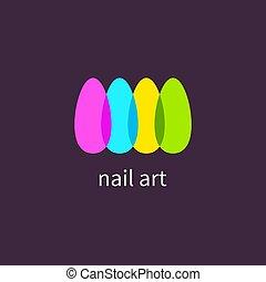 spijkers, kunst, manicure, salon