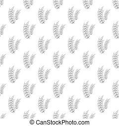 Spike of wheat seamless pattern