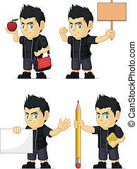 Spiky Rocker Boy Mascot 4