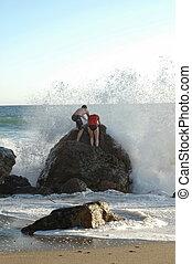 spille, bølger