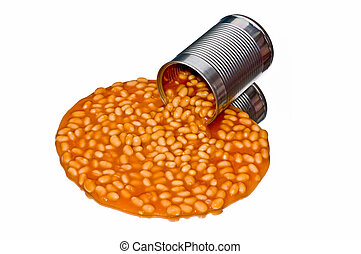 Spilled can of beans