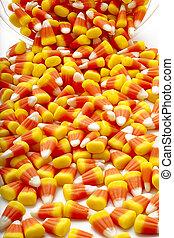 spilled candy corn