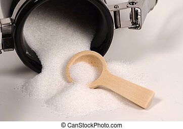 Spilled Sugar - Photo of Spoon and Sugar.