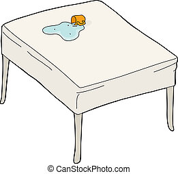 Spilled Water on Table
