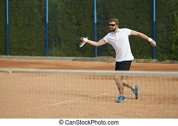 spiller tennis, flytte