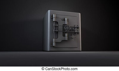 Spilling Gold - A 1080p HD video of a iron safe opening and...