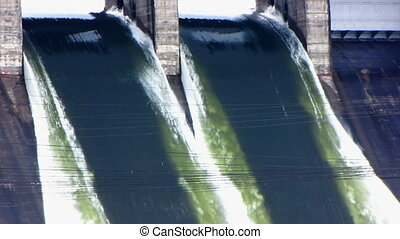 Spillway 05 - Plums of water at electrical station.