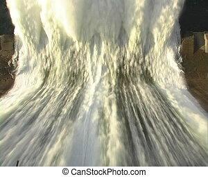 Spillway. - Spillway of hydro electric power dam.