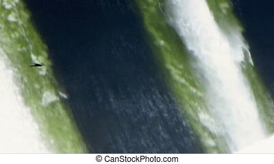 Spillway. - Powerful plums of water.