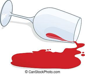 spilt, wijntje