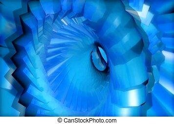 spin, blue, depth