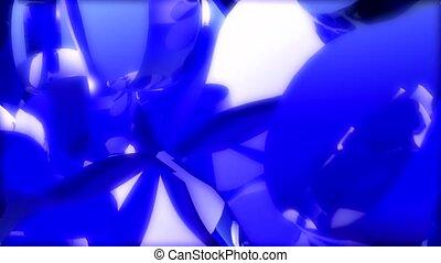 spin, blue, light