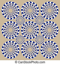 Spin Circles (Illusion). Optical Illusion. Optical illusion...