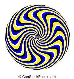 Spin Marble (motion illusion) - A swirly pattern rotates in...