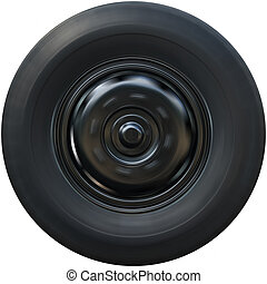 Spin Truck tire isolated on white background.