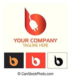 spina, b, lettera, illustrazione, creativo, vettore, fondo, icon., bianco