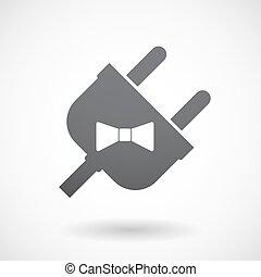 spina, collo, isolato, cravatta, maschio, icona