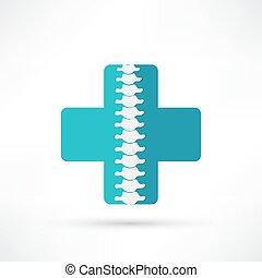 spina, simbolo, disegno, diagnostics