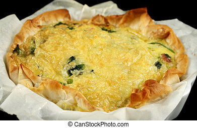 Spinach And Bacon Quiche 2