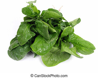 Spinach - fresh green spinach isolated on white background ...