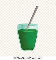 Spinach fresh icon, cartoon style