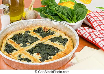 spinach pie pan