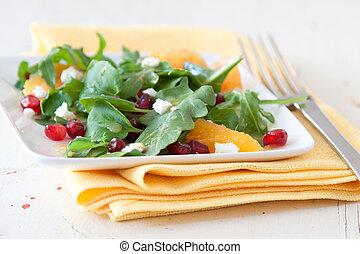 Spinach, Pomegranate and Orange Salad