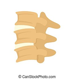 Spinal column discs icon, flat style - Spinal column discs...