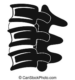 Spinal column discs icon, simple style - Spinal column discs...