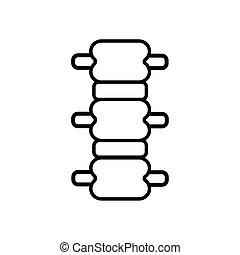 spinal vertebrae line style icon vector illustration design