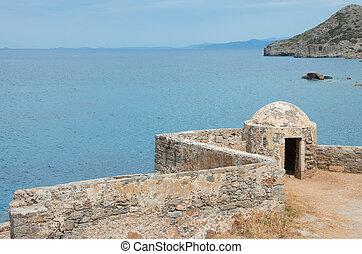 spinalonga island , crete - view of Spinalonga Island ...