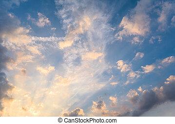 spindrift, abstrakt, wolkenhimmel