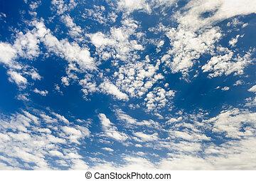 spindrift, wolkenhimmel, himmelsgewölbe, hintergrund
