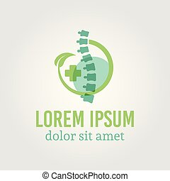 Spine diagnostic center isolated vector logo