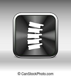 Spine diagnostics symbol design spine icon vector
