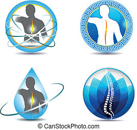 Spine - Human spine, vertebral column health care design....