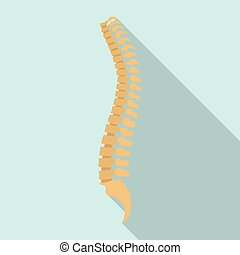 Spine icon, flat style - Spine icon. Flat illustration of...