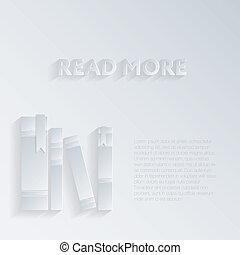 spine, libri, shadow., illustrazione