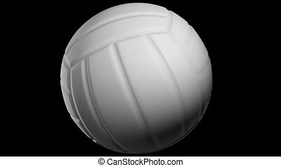 Spining volleyball ball