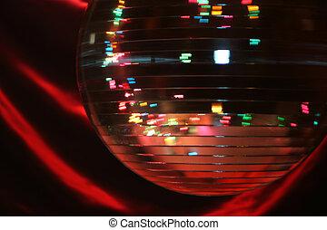 spinnen, kugel, disko