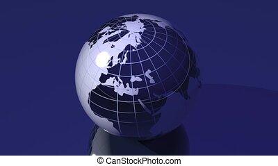 spinnenden globus, -, loopable